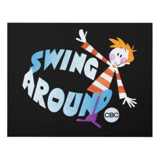 Swing Around - promo graphic Panel Wall Art