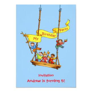 Swing Birthday Kids Party Invitation