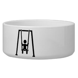 Swing child pet water bowl