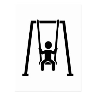 Swing child postcard