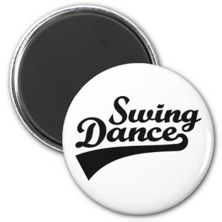 Swing dance 2 inch round magnet