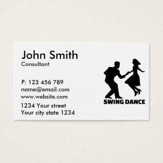 Swing dance business card