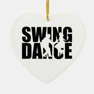 Swing dance ceramic ornament