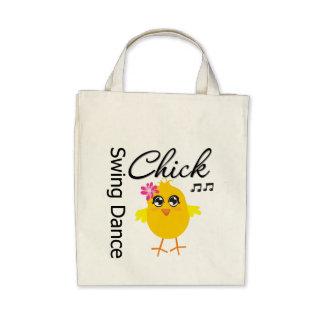 Swing Dance Chick Tote Bag