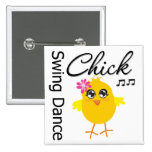 Swing Dance Chick Buttons