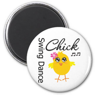 Swing Dance Chick Magnets
