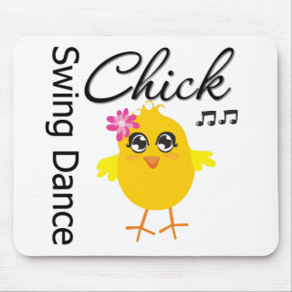 Swing Dance Chick Mouse Pads