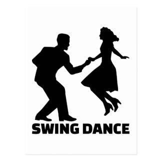 Swing dance postcard