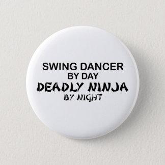 Swing Dancer Deadly Ninja by Night Pinback Button