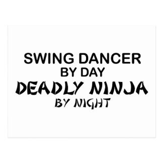 Swing Dancer Deadly Ninja by Night Postcard