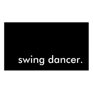 swing dancer. Double-Sided standard business cards (Pack of 100)