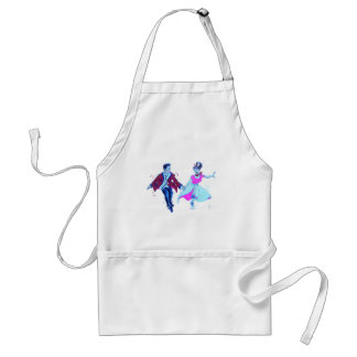 swing dancer pink poodle skirt saddle shoes adult apron