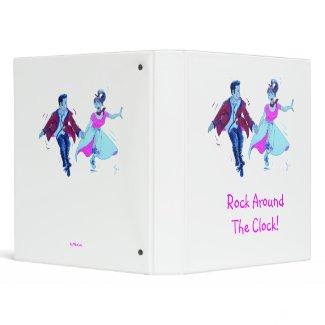 swing dancer pink poodle skirt saddle shoes binder binder