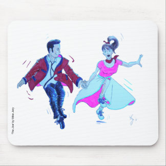 swing dancer pink poodle skirt saddle shoes mouse pad