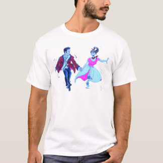 swing dancer pink poodle skirt saddle shoes T-Shirt
