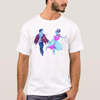 swing dancer pink poodle skirt saddle shoes T-Shirt