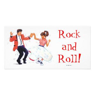 swing dancer poodle skirt & saddle shoes card