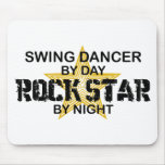 Swing Dancer Rock Star by Night Mouse Pad