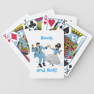 swing dancer with poodle skirt and saddle shoes bicycle playing cards