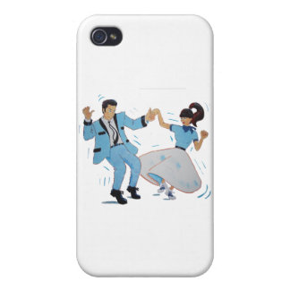 swing dancer with poodle skirt and saddle shoes case for iPhone 4
