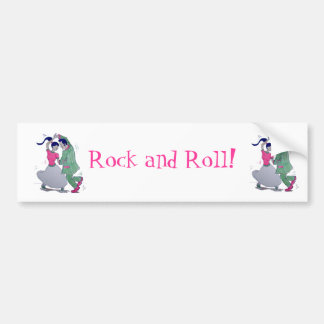 swing dancers car bumper sticker