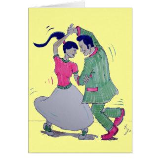 swing dancers card