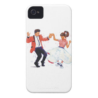 Swing Dancers Poodle Skirt Saddle Shoes Cartoon iPhone 4 Cover