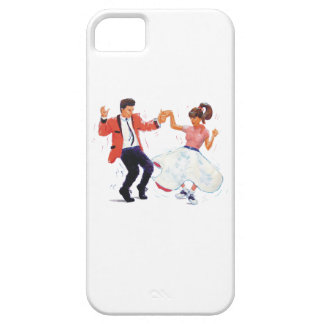 Swing Dancers Poodle Skirt Saddle Shoes Cartoon iPhone SE/5/5s Case