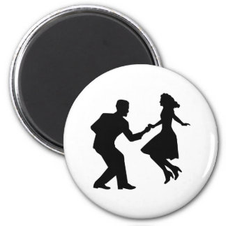 Swing dancing 2 inch round magnet