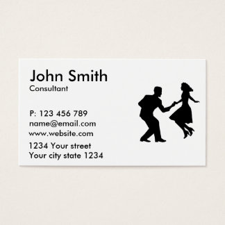Swing dancing business card