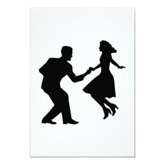 Swing dancing card