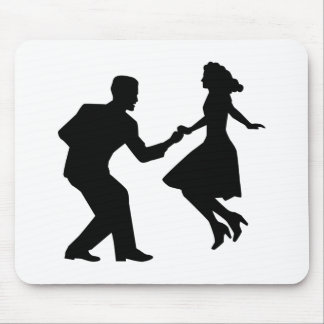 Swing dancing mouse pad