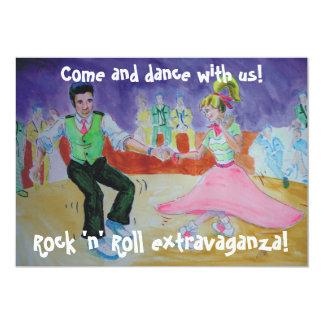 Swing Dancing on saturday night 5x7 Paper Invitation Card