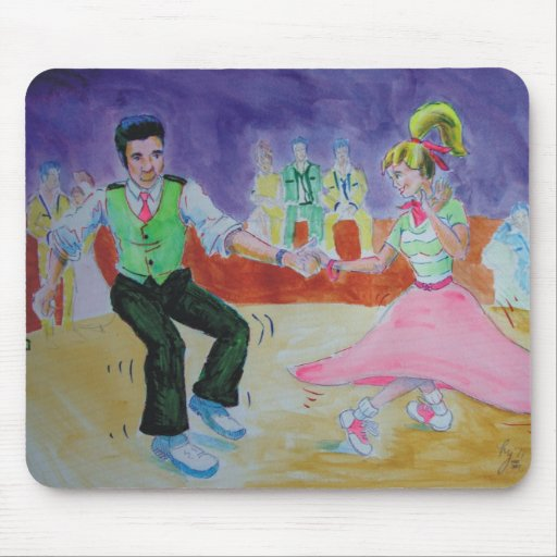 Swing Dancing on saturday night Mouse Pad