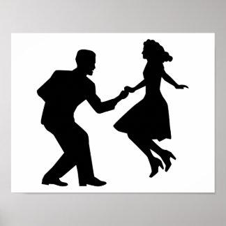 Swing dancing poster