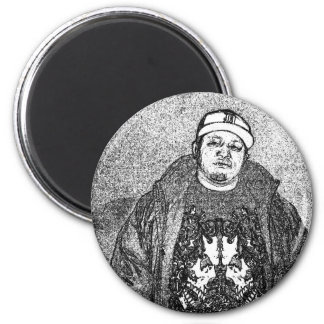 Swing Dee Diablo  black and white1 2 Inch Round Magnet