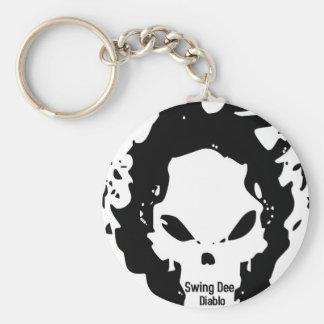 """Swing Dee Diablo""""Fire Skull""""Logo Keychain"""