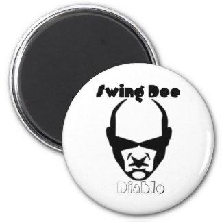 """Swing Dee Diablo""""Round Mound""""Logo 2 Inch Round Magnet"""