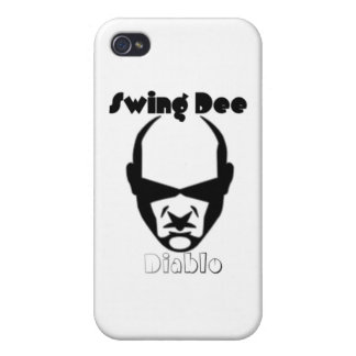 "Swing Dee Diablo""Round Mound""Logo Case For iPhone 4"