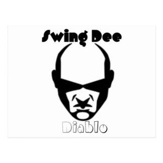 "Swing Dee Diablo""Round Mound""Logo Postcard"