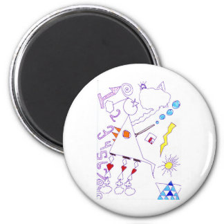 Swing Fantasia Solder Expression Fridge Magnet