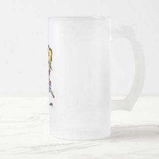 Swing Girl Frosted Glass Beer Mug