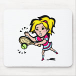 Swing Girl Mouse Pad