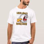 Swing Hard Funny Cartoon Golf Ball T-Shirt