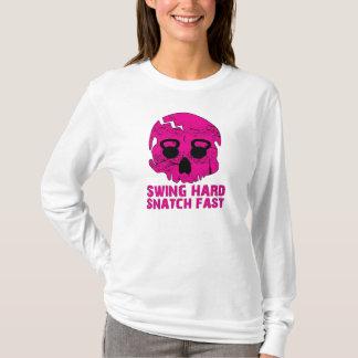 Swing Hard Snatch Fast - Ladies Kettleskull Hoodie