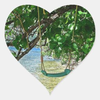 Swing Heart Sticker