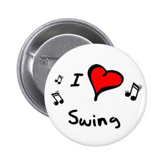 Swing I Heart-Love Button