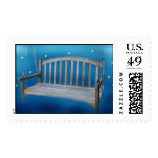 swing in the starry night stamp