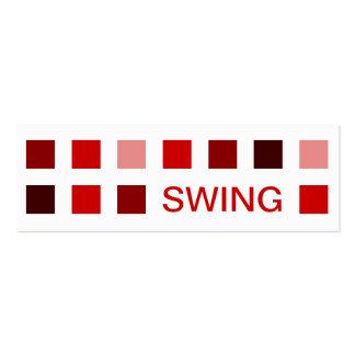 SWING (mod squares) Mini Business Card
