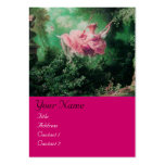 SWING  MONOGRAM ,Green Pink Fuchsia Business Card Template